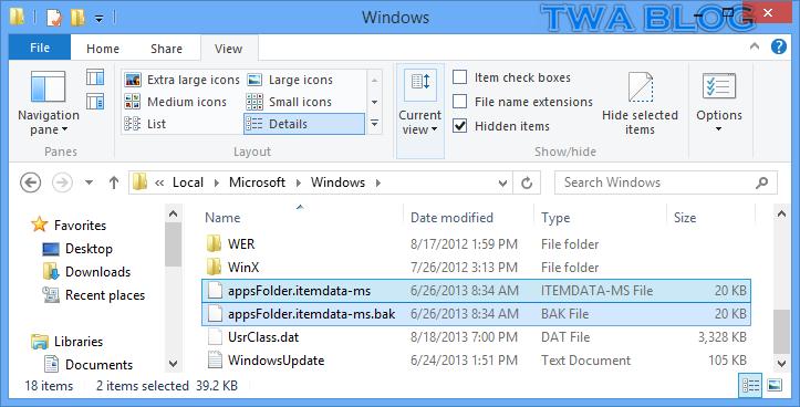 วิธีการรีเซ็ตหน้า Start ของ Windows 8 กลับเป็นค่าเริ่มต้น ...