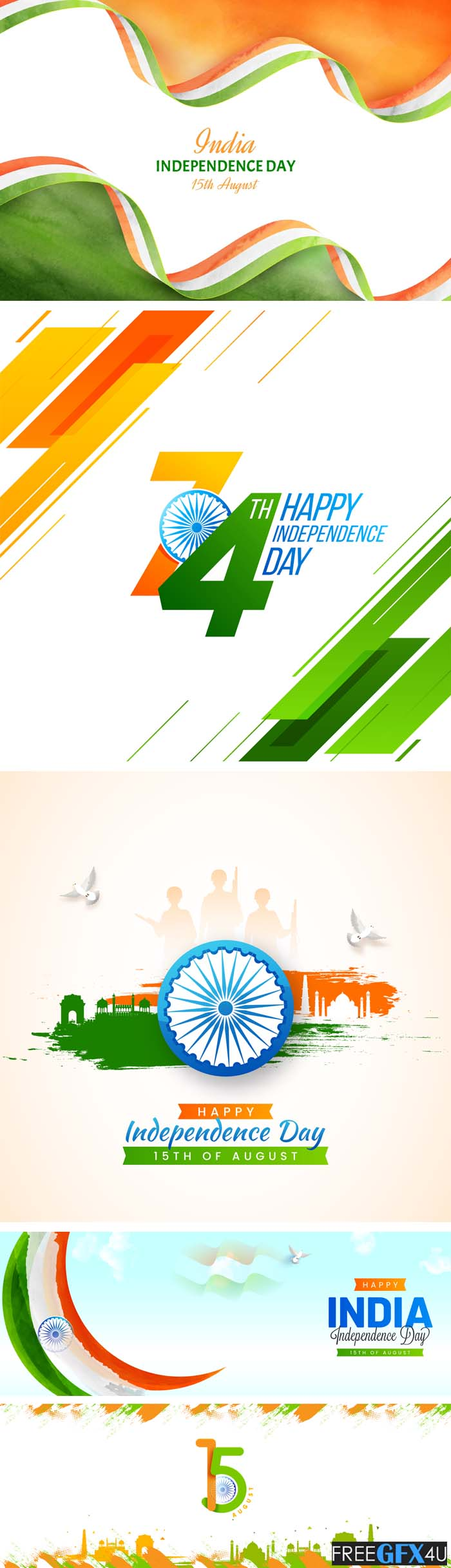 India Independence Day 15 August