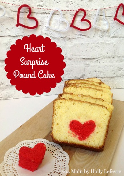 Bake a surprise heart inside a pound cake