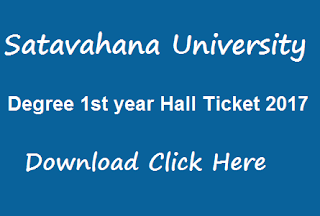 su ug 1st year hall tickets 2017 download