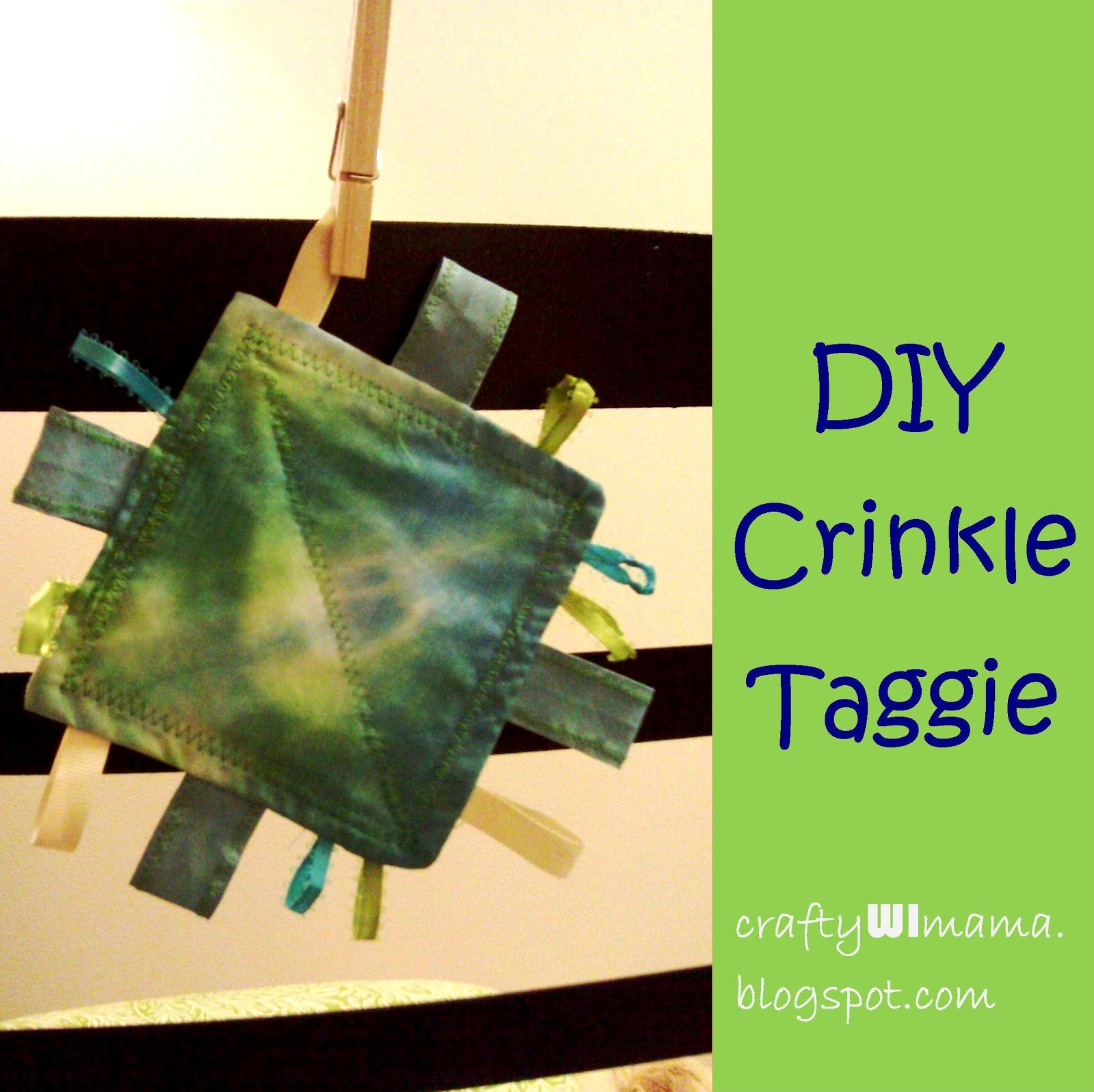 Crafty WI Mama: DIY Baby Gift: Crinkle Taggie Toy
