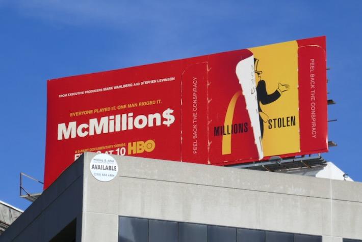 McMillions HBO docu-series billboard