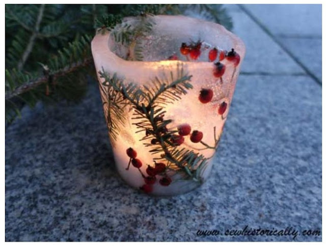 Outdoor Winter Berry Ice Luminary Tutorial