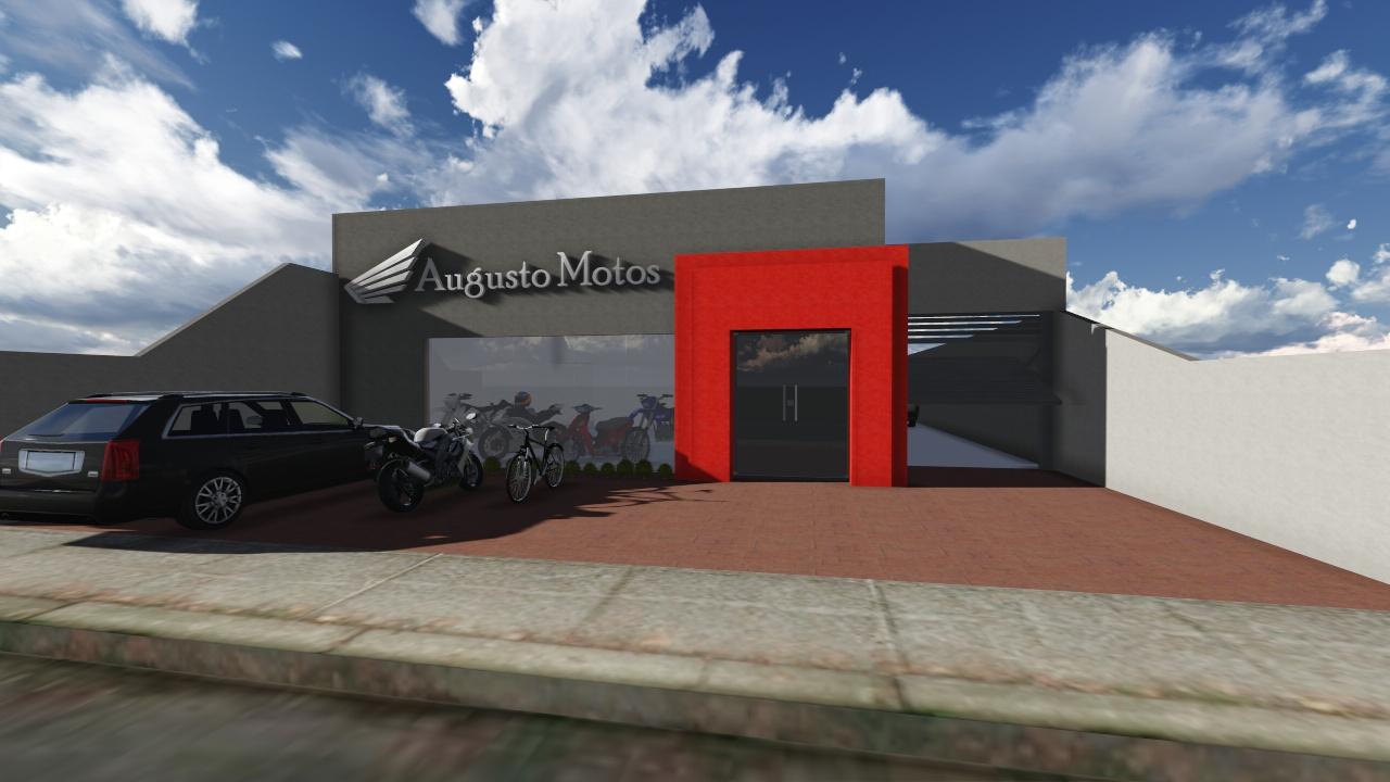 Projeto oficina de moto fachada oficina de motos mais for Fachadas para oficinas