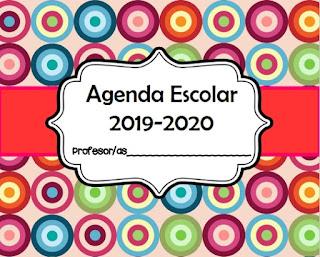 Agenda Escolar Editable para maestros en pdf 2019 - 2020