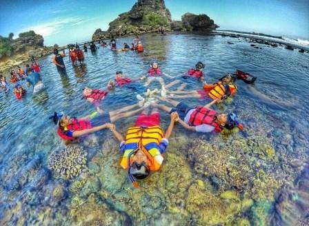 setelah Snorkeling di Pantai Nglambor Gunung Kidul!