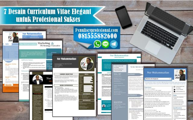 7 Desain Curriculum Vitae Elegant untuk Profesional Sukses