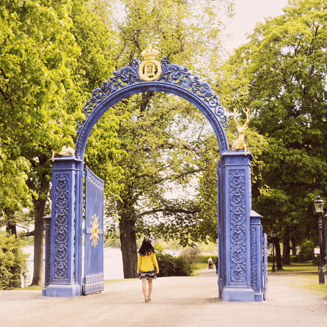 Best Stockholm Instagram Spots - Djugarden blue gate