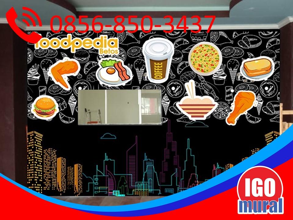 Lukisan mural menu cafe di foodpedia