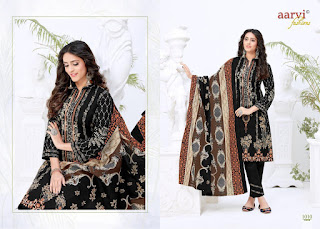 Aarvi Noor Lawn Collection vol 1 Pakistani dress Material