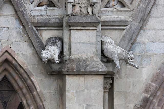 Jaguar gargoyles at the Basilica del Voto Nacional