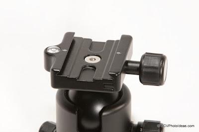 Benro B-2 QR clamp closed