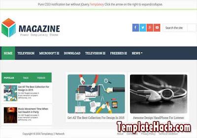 magazine light blogger template
