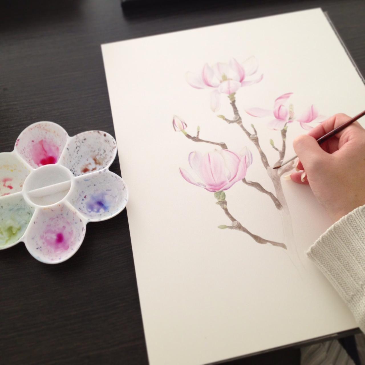 Schilderijen van orchideeën (en andere bloemen)