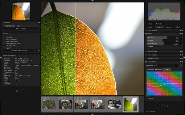 Δωρεάν επαγγελματικό πρόγραμμα επεξεργασίας εικόνων για φωτογράφους
