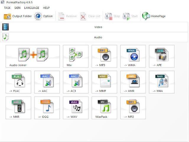 Download Format Factory - Phần mềm convert, đổi đuôi video mới nhất a