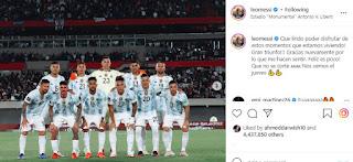 ميسي يحتفل بثلاثية ضد أوروجواي في تصفيات كأس العالم