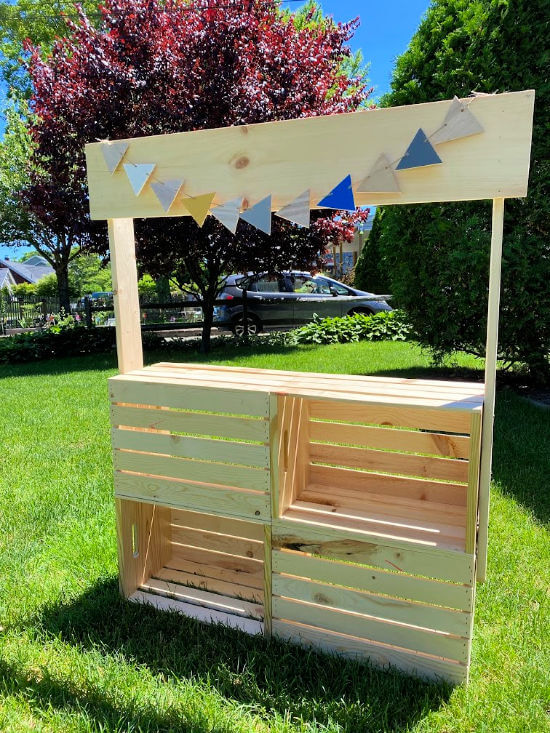 stacked crate lemonade stand