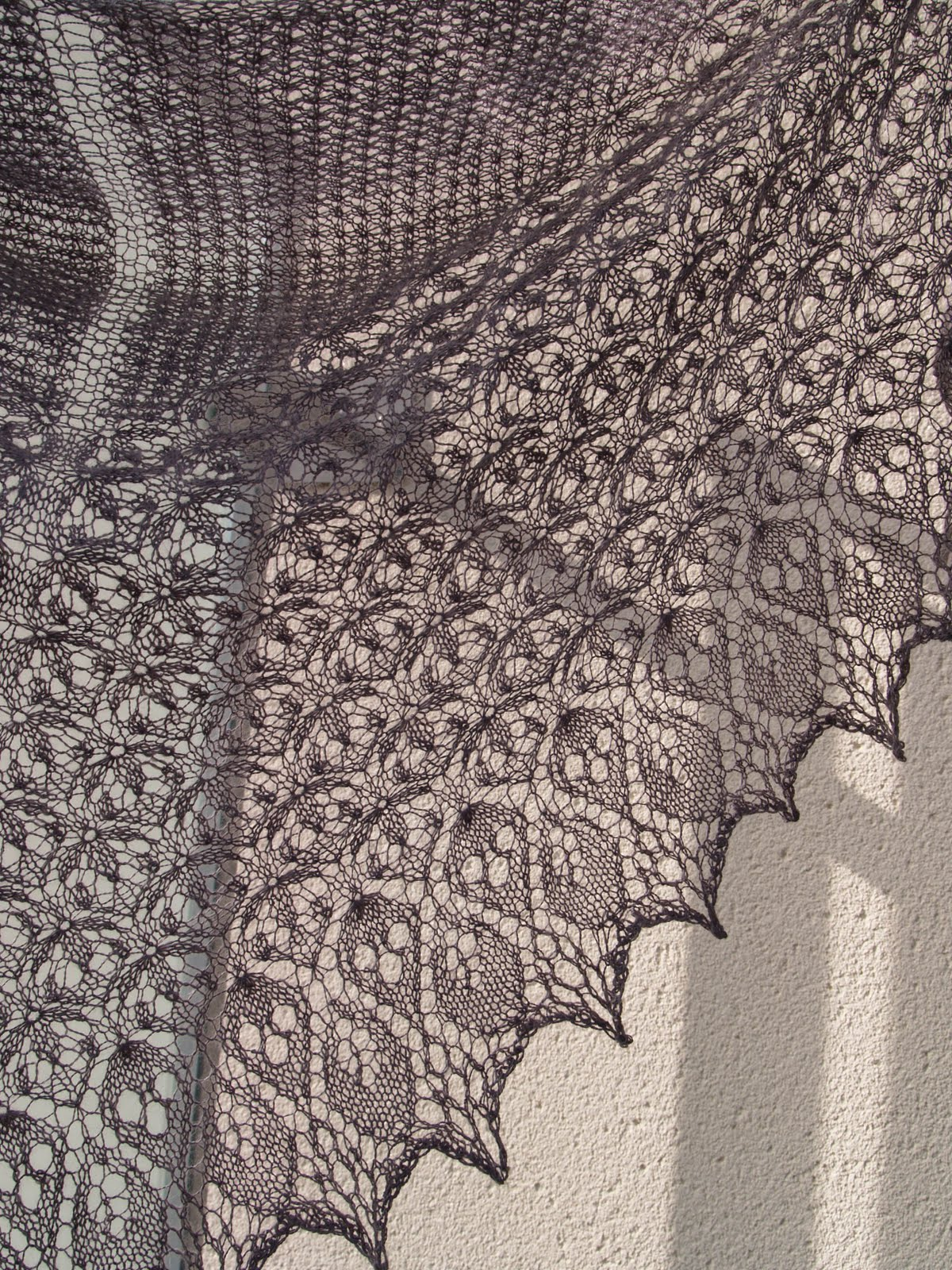 Finished object; Laminaria shawl