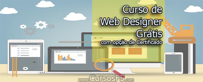 Curso de Web Designer Grátis com opção de Certificado