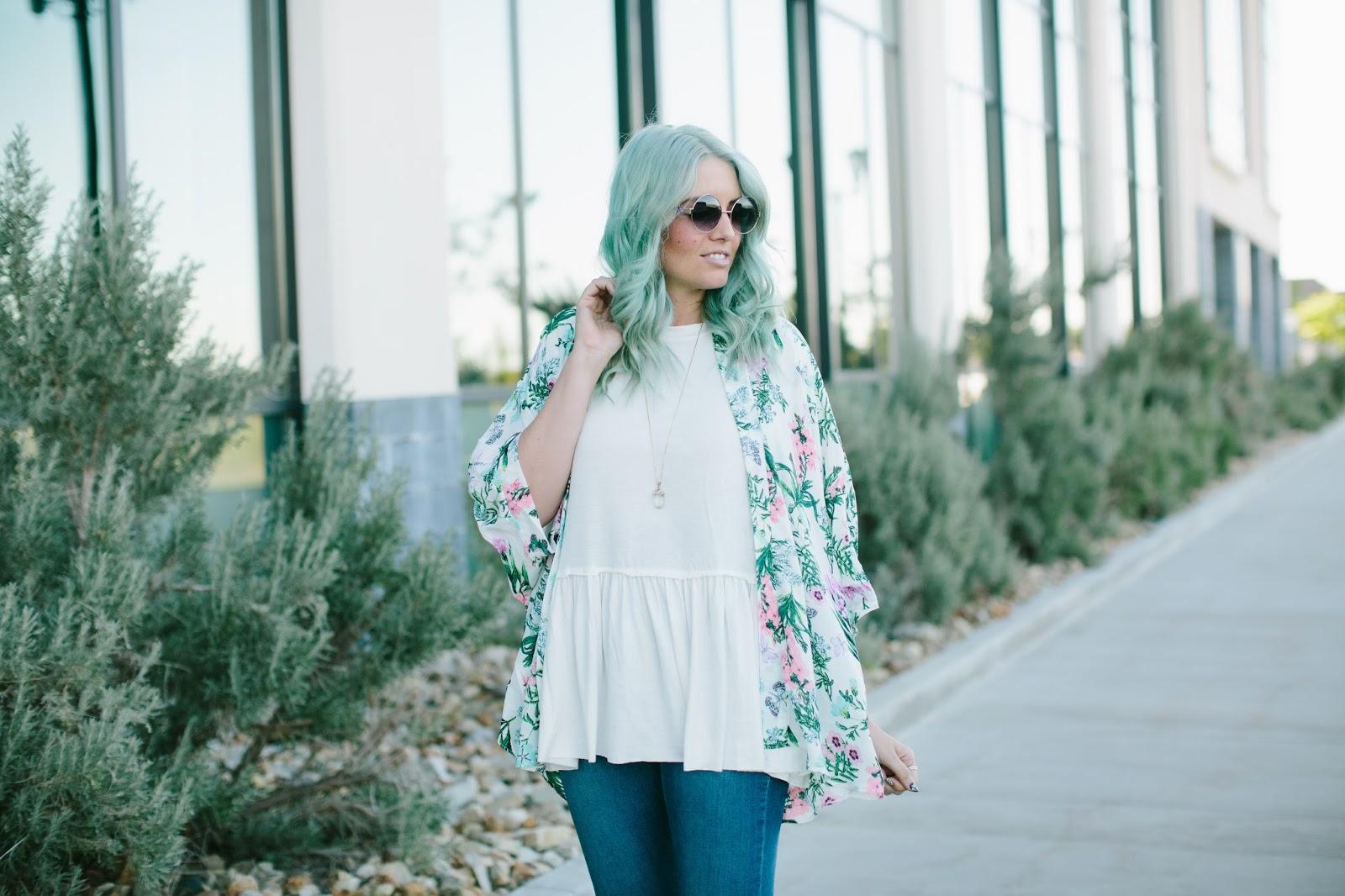 BAHAMAS FLORAL PRINT KIMONO JACKET, Utah Fashion Blogger,