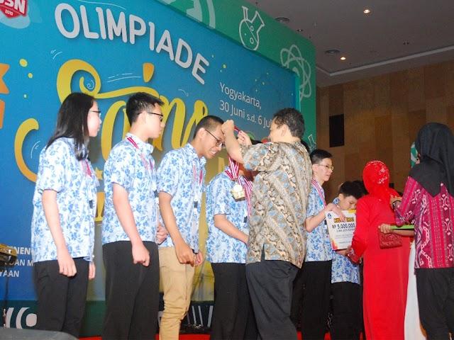 Mantap, Jawa Barat Juara Umum Olimpiade Sains Nasional SMP 2019