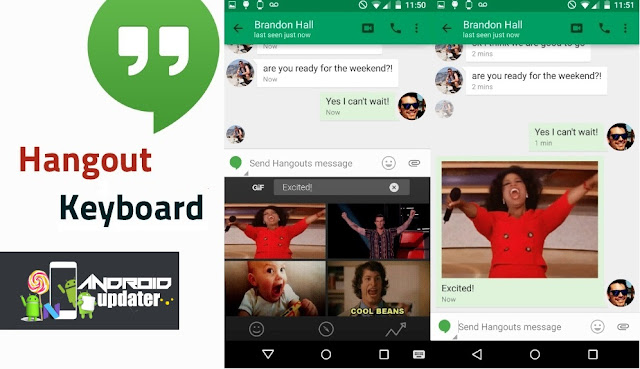 Hangout Hangouts v15 Update Released by Google with new GIF Keyboard Android