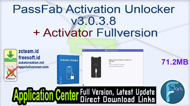 PassFab Activation Unlocker v3.0.3.8 + Activator Fullversion