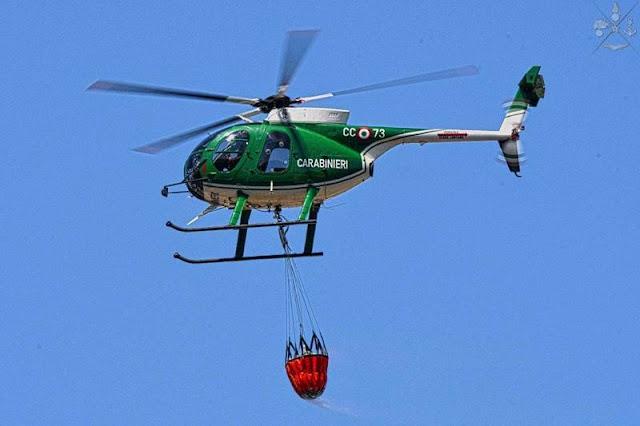 Elicotteri delle Forze Armate impegnati nella campagna estiva antincendi 2020