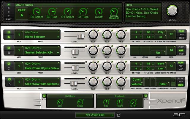 Interface do plugin Xpand 2 - AIR Music Tech