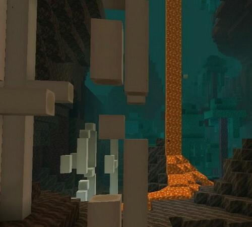Minecraft Nether cháp vá các block bắt đầu cho game show.