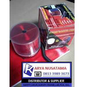 Jual Lampu Patwal Strobo Magnet Merah 24V di Bandung