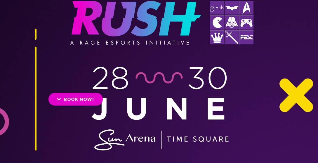 Rush 2019 - Gamers, Geeks and Fantasy Freaks – This is your