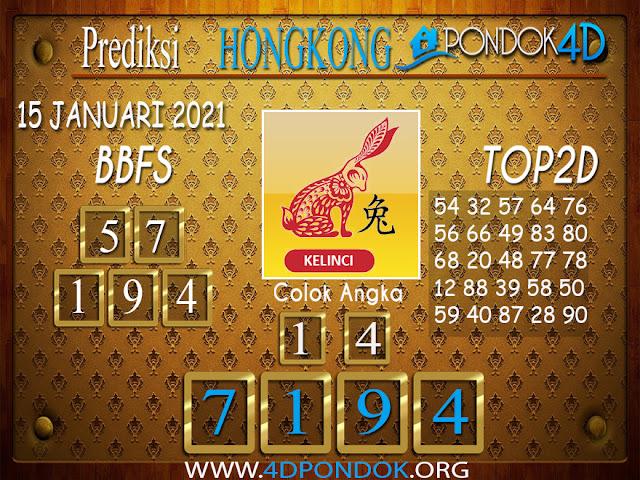Prediksi Togel HONGKONG PONDOK4D 15 JANUARI 2021