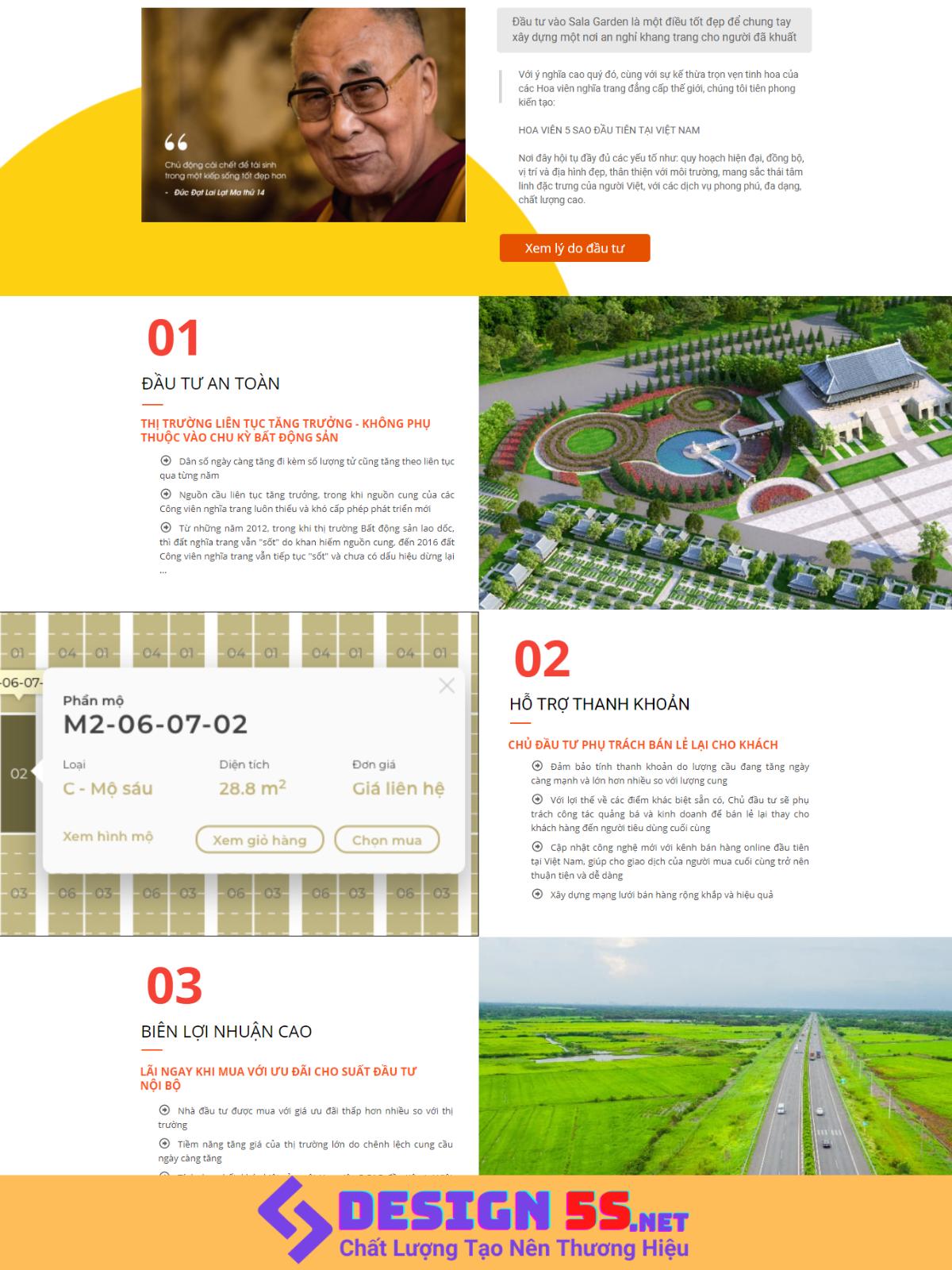 Theme blogspot bất động sản landing Sala Garden VSM79 - Ảnh 2
