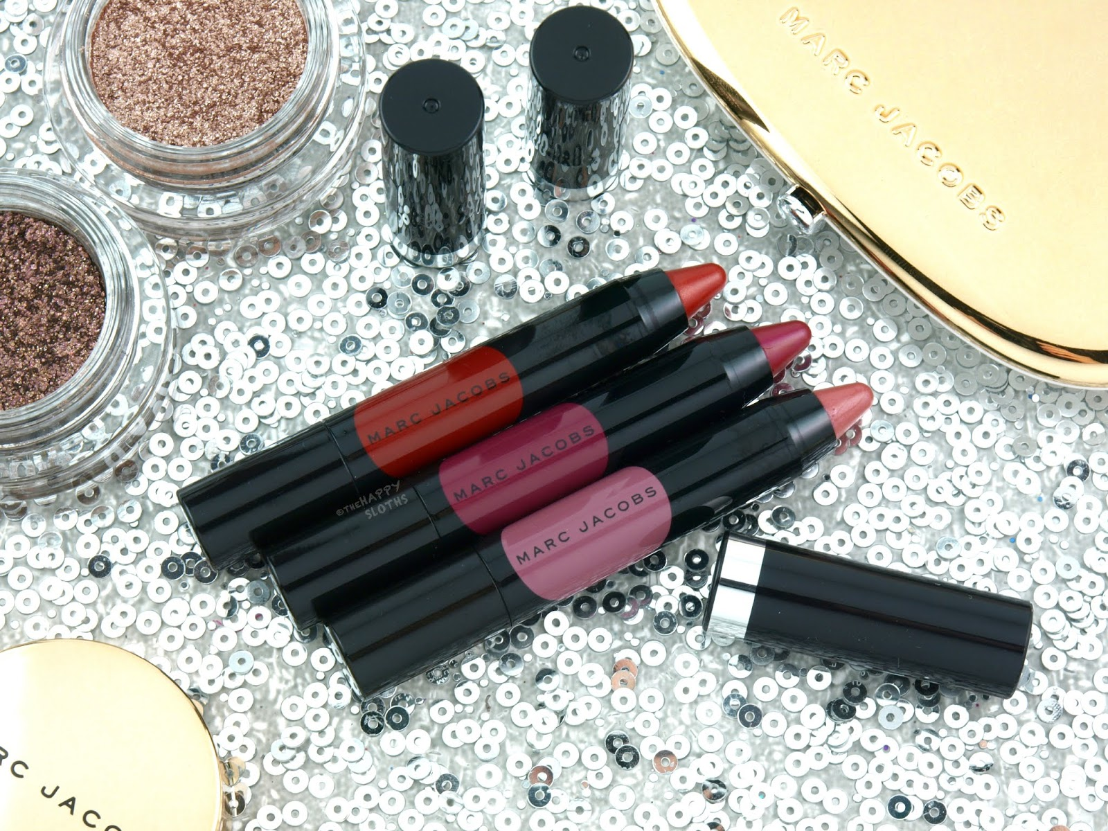 Marc Jacobs Holiday 2018 | On The Dot Mini Le Marc Liquid Lip Crayon Trio: Review and Swatches