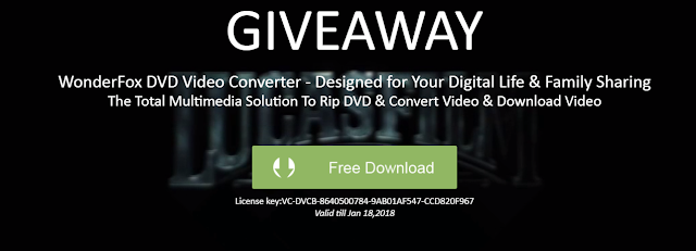 WonderFox DVD Video Converter Giveaway