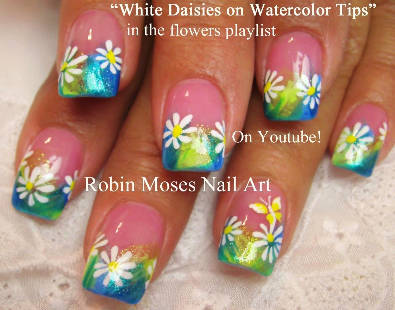 Nail Art By Robin Moses Daisy Nails Nail Art Daisies Summer