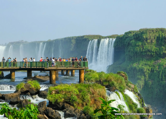 boardwalk to Devils Throat in Iguazu Falls