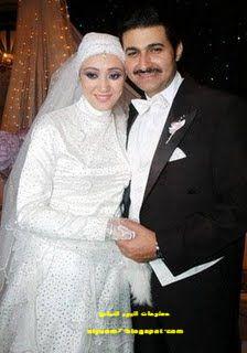 صورة زفاف الفنان ياسر جلال وزوجته