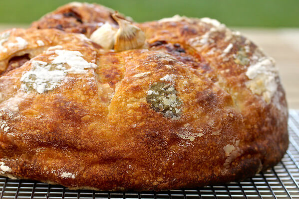 Garlic and cheese bread