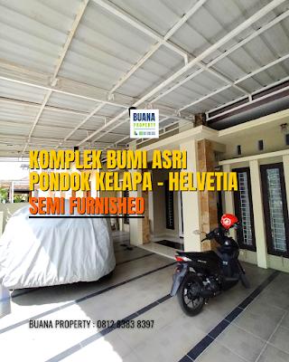 Rumah 2 Lantai Semi Furnished 3 Kamar Tidur di Komplek Bumi Asri Jalan Asrama Pondok Kelapa Helvetia Medan