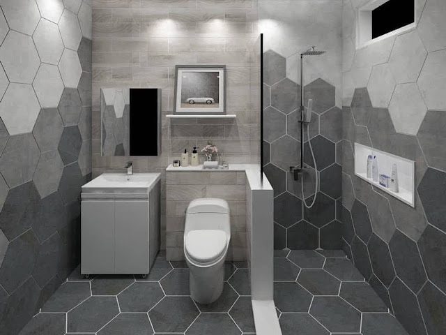 Keramik Dinding Kamar Mandi Motif Garis