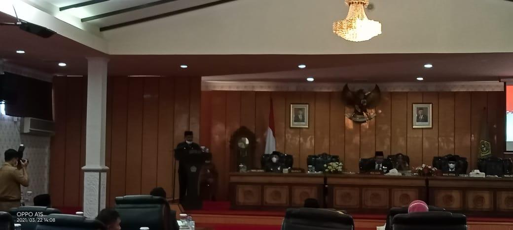 Dalam Rapat Paripurna DPRD Karimun Umumkan Penetapan Bupati  Wakil Bupati Karimun Terpilih