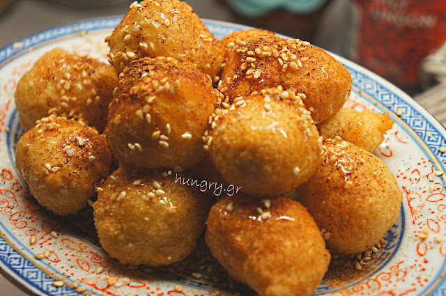 Loukoumades:Fried Greek Honey Puffs