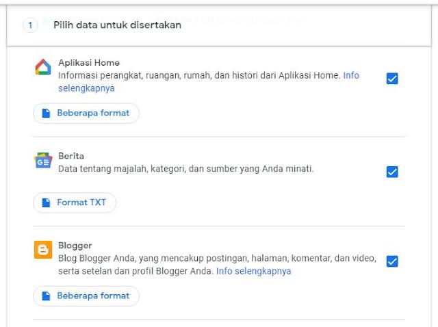 kamu bisa tahu data apa saja yang disimpan oleh google