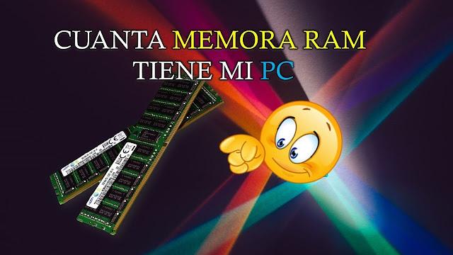 para ver cuanta memorias ram tiene instalada tu pc solo debes oprimir las teclas windows pausa