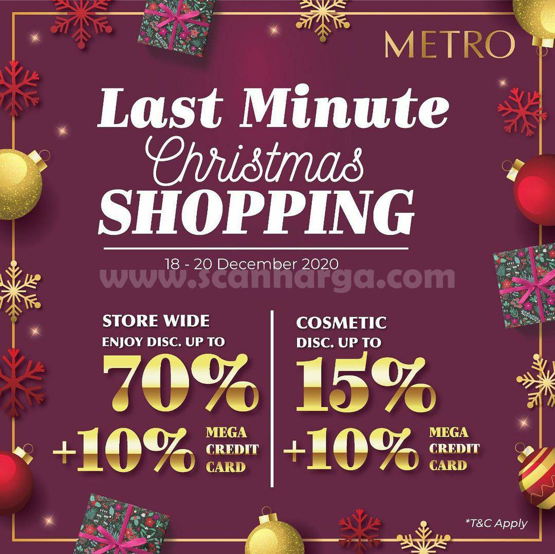METRO Last Minute Christmas Shopping! Store Wide up 70% & Cosmetic up to 15% + 10% Bank Mega Credit Card