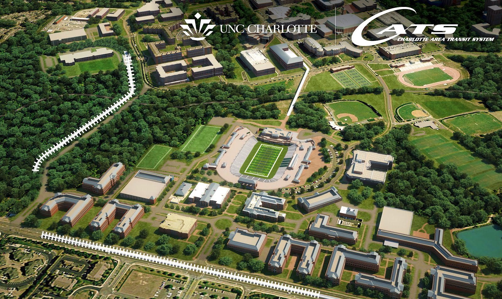 Unc Charlotte News Countdown Continues For Light Rail On Campus