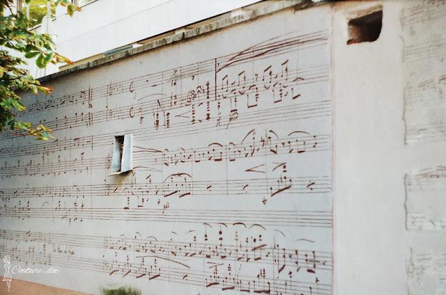 nuty, akademia muzyczna, nuty, mural